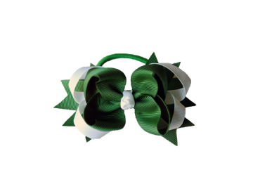 Pony Big Bow - Green/White